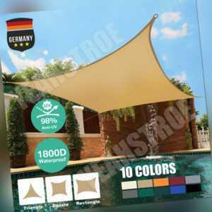 Sonnensegel rechteckig Sonnenschutz 98% UV-Schutz wasserabweisend S