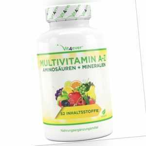 A-Z Multivitamine & Mineralien 365 Tabletten - 32 Wirkstoffe Multivitamin vegan