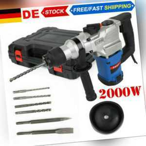Bohrhammer SDS 2000W Meißelhammer Stemmhammer Schlagbohrmaschine Kombihammer