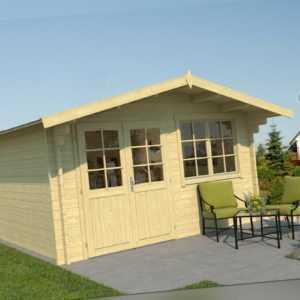 Topgarden Gartenhaus HELENE; 400x500 cm ISO; 45 mm Doppelnut; ohne Boden