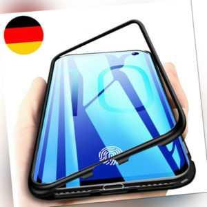 Samsung Galaxy S10e S10 Plus Magnet Bumper Case Handy Hülle Glas Metall Tasche