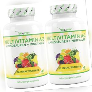 2x 365 MULTIVITAMIN A-Z Tabletten (vegan) Vitamine + Mineralien 32 Wirkstoffe