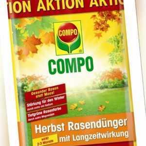 COMPO Herbst Rasendünger mit Langzeitwirkung 5 kg für bis zu 250 m² wirkt 2 - 3