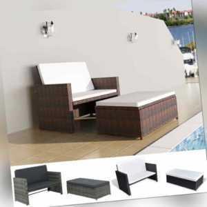 vidaXL Gartenmöbel 5-tlg. Poly Rattan Sofa Lounge Sitzgruppe mehrere Auswahl