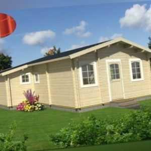 Palmako Ferienhaus Emily 39,2m² 660x780cm Gartenhaus Blockhaus Metall Blech Holz