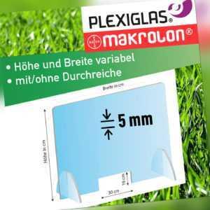 Spuck Schutz Wand aus Plexiglas, Acryl Scheibe, Makrolon - freie Größenwahl