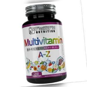 Multivitamin A-Z 250 Tabletten Vitamine Mineralien Spurenelemente A bis Zink