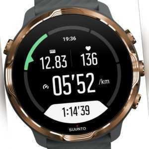 Suunto 7 Android Smartwatch-Sportuhr grau-kupfer - Sehr guter Zustand