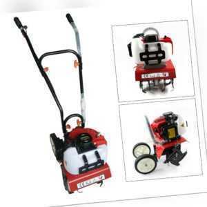 52cc 2-Takt Benzin Gartenfräse Gartenhacke Motorhacke Bodenfräse Kultivator 2 PS
