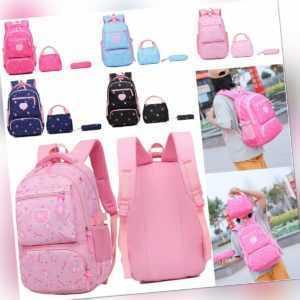Kinder Mädchen Schulrucksack Wasserdicht Ranzen Schulranzen Schultasche TOP
