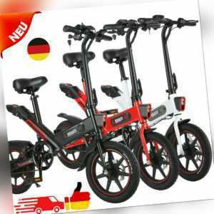 """14"""" 350W Elektrofahrrad Klapprad E-Fahrrad Elektrofahrräder 10Ah Klappfahrrad DE"""