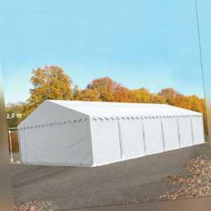 Lagerzelt 6x12m Zelthalle Industriezelt Weidezelt PVC 500g/m² Zelt weiß NEU