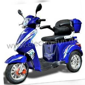 Elektromobil ECO ENGEL 501 Blau mit Li-Io Akku, Senioren Roller, 25 km/h