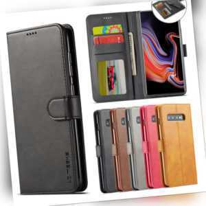 Samsung Galaxy S8 S9 S10 Plus Handy Flip Case Cover Wallet Schutz Hülle Tasche