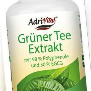 Grüner Tee Extrakt von AdriVital - 120 Kapseln -mit 50% EGCG und 98% Polyphenole