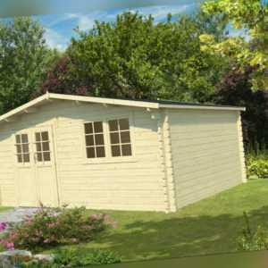 34 mm Gartenhaus 500x500 cm Gerätehaus Blockhaus Holz Holzhaus Holzhütte Neu