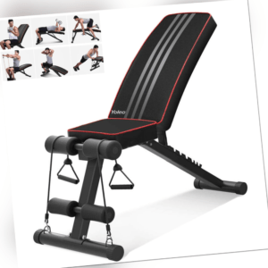Klappbare Hantelbank Multifunktion Schrägbank Trainingsbank für Fitness Bench