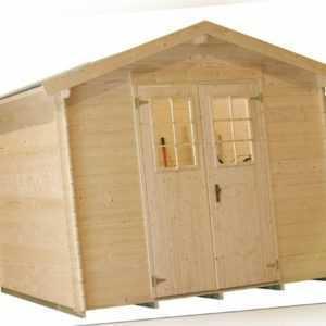Gartenhaus Blockbohlenhaus Holz BRIGANTINE III 19 mm in der Größe 2,60 x 2,60 m