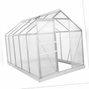 ZELSIUS Gewächshaus 6 mm Verglasung Aluminium ca. 5,90 m² mit Fundament
