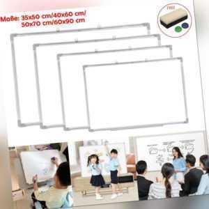 Whiteboard Magnettafel Schreibtafel Memoboard Wandtafel mit Alurahmen 4 Größen