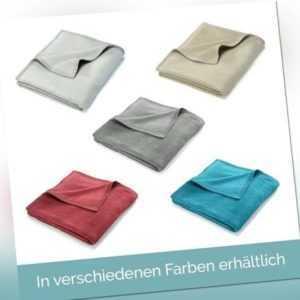 Wohndecke Decke Kuscheldecke Sofa Uni Tagesdecke Sofadecke