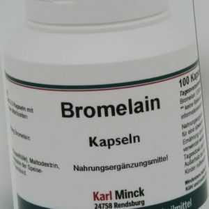 Karl Minck Bromelain 100 Kapseln - Allround Talent unter den Enzymen #281