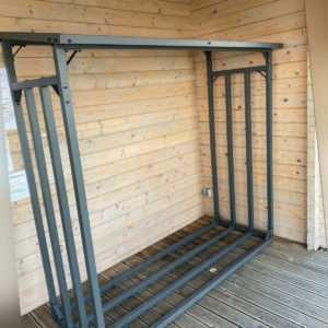 Kaminholzregal STABIL 200x70x200cm Holzunterstand Brennholz Kaminholzständer