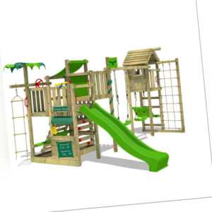 FATMOOSE Spielturm Kletterturm CrazyCoconut Club XXL mit Turmanbau Holz Rutsche