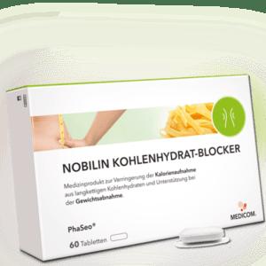 NOBILIN KOHLENHYDRATBLOCKER – 60 Tabletten zur Unterstützung der Gewichtsabnahme