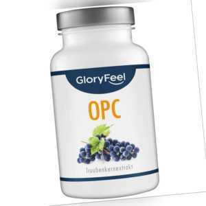 OPC Traubenkernextrakt 95% Vegan Hochdosiert 500mg OPC Vitamin C mit Zertifikat