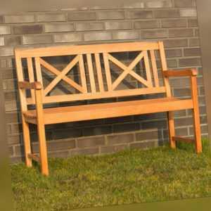 Gartenbank Ardriano aus Hartholz Gartenmöbel Holzbank Bank 2-Sitzer