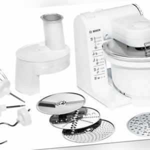 Bosch MUM4427 Küchenmaschine 500W mit Durchlaufschnitzler Zubehör...
