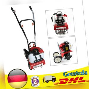 1.2L Benzin Gartenfräse 1.6KW (2PS) Motorhacke Ackerfräse Bodenfräse 52CC 2-Takt