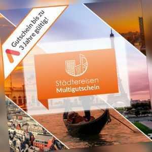 Städtereise Hotel Gutschein 3 Tage für 2 Personen 50 Hotels zur Wahl Frühstück