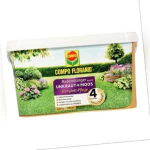 COMPO FLORANID Rasendünger gegen Unkraut + Moos '4in1' Komplett-Pflege 6 kg