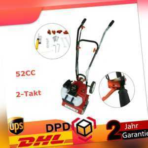 1.6kW 2 PS Benzin Gartenfräse Gartenhacke Kultivator Motor hacke Bodenfräse DHL