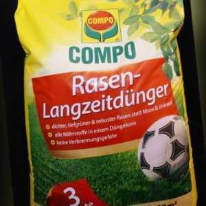 Compo Rasen-Langzeitdünger 20 kg Rasendünger 800 m² Feingranulat NPK-Dünger