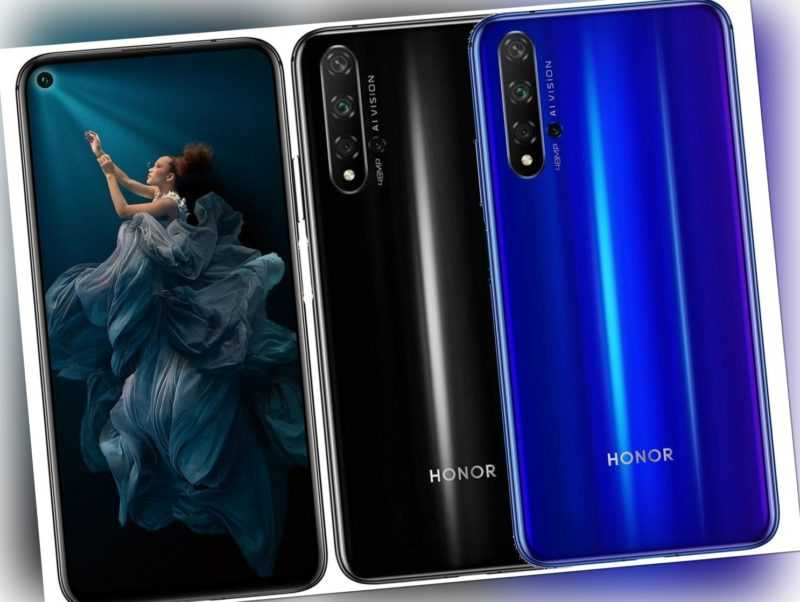 """Honor 20 DualSim 128GB LTE Android Smartphone 6,26"""" Display 48 Megapixel"""