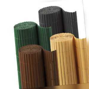 JAROLIFT Sichtschutzmatte Sichtschutzzaun Windschutz PVC Bambuszaun PVC-Matte