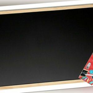 Kreidetafel 60 x 80 cm + 12 Tafelkreide Schultafel Pinnwand Maltafel Malwand Set
