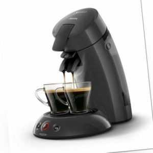 PHILIPS Senseo Original Eco HD6552/35 Kaffeepadmaschine grau 1450...