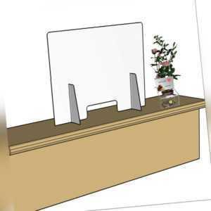 Schutzscheibe Spuckschutz Acrylglas mit Durchreiche Thekenaufsatz PLEXIGLAS®