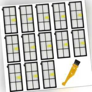 10X(14 StüCke Hepa Filter Ersatz Teile für Irobot Roomba 870/800/880/960/981Q8)