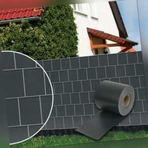PVC Sichtschutzstreifen Stabmattenzaun Streifen PVC Gartenzaun Balkon Anthrazit