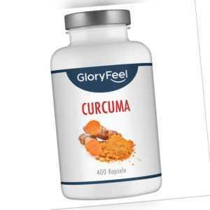 Curcuma Intensiv - hochdosiert + Piperin Schwarzer Pfeffer - 400 vegane Kapseln