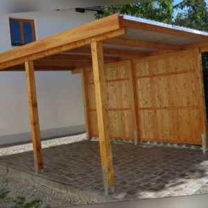 Carport 3x5 m Lärche inkl. Dach und Anker ca. 310x510 cm DIREKT VOM HERSTELLER!