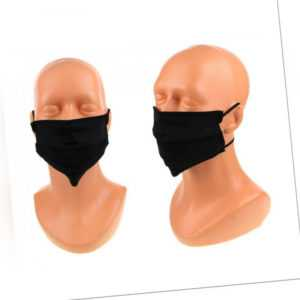 105 teiliges Hygiene Set- 100 Einmalhandschuhe und 5 Baumwollmasken schwarz.