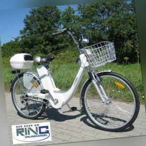"""Elektrofahrrad 26"""" E-Bike 250 W Elektro Fahrrad Pedelec City Bike Rad silber"""