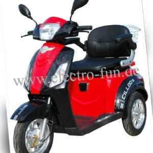 Seniorenmobil ECO ENGEL 500 Rot Schwarz Senioren Roller, 20 km/h