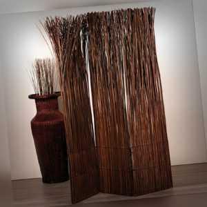 "RAUMTEILER ""NATURE"" | 160x120cm, Weidenholz | Paravent, elegante Trennwand"